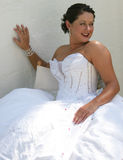 Noiva em seu dia do casamento Fotos de Stock Royalty Free