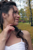 A noiva em um Birchwood Imagens de Stock