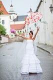 Noiva em um dia do casamento Fotos de Stock Royalty Free