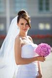 Noiva em um dia do casamento Imagem de Stock Royalty Free