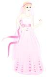 A noiva em um vestido cor-de-rosa Imagens de Stock