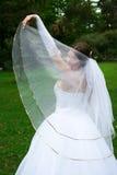 A noiva em um vestido de casamento Imagens de Stock