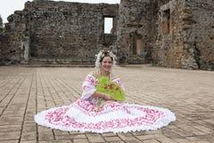Noiva em uma sessão fotográfica, Cantral América Imagens de Stock Royalty Free