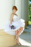 Noiva encantador do ruivo Fotografia de Stock