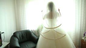 A noiva está esperando o noivo video estoque