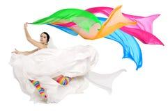 Noiva feliz do divertimento Imagens de Stock