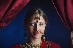 Noiva hindu pronta para a uni?o foto de stock