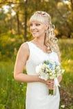 Noiva na natureza Fotografia de Stock Royalty Free