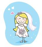 Noiva no branco Foto de Stock Royalty Free