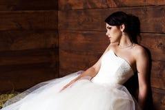 Noiva no celeiro Fotografia de Stock