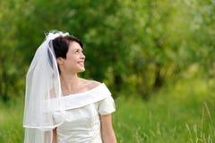 Noiva no parque fotografia de stock royalty free