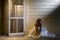 Noiva no patamar traseiro Fotos de Stock