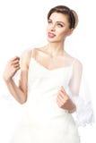Noiva no vestido de casamento. Foto de Stock