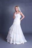 Noiva nova no vestido de casamento Fotografia de Stock