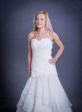 Noiva nova no vestido de casamento Fotografia de Stock Royalty Free