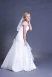 Noiva nova no vestido de casamento Imagem de Stock Royalty Free