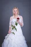 Noiva nova no vestido de casamento Imagem de Stock