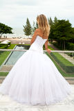 Noiva nova que olha ao mar Foto de Stock Royalty Free