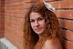 Noiva nova Red-haired imagem de stock