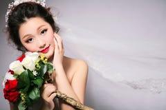 Noiva oriental da beleza imagens de stock royalty free