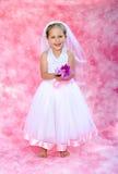 A noiva pequena faz para acreditar o divertimento Fotos de Stock Royalty Free