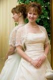 Noiva perto do espelho Fotografia de Stock