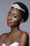 Noiva preta bonita da pele imagem de stock royalty free