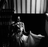 Noiva que levanta na câmara Imagem de Stock Royalty Free