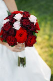 Noiva que prende o ramalhete floral imagem de stock royalty free