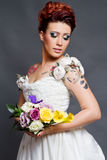 Noiva Tattooed Imagens de Stock Royalty Free