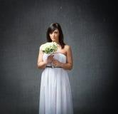 A noiva terrifica a expressão imagem de stock royalty free