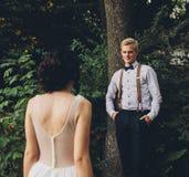 A noiva vem ao noivo Foto de Stock Royalty Free