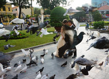 Noiva vietnamiana, foto do casamento, Ho Chi Minh City Fotografia de Stock