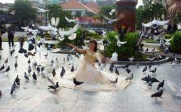 Noiva vietnamiana, foto do casamento, Ho Chi Minh City Fotos de Stock