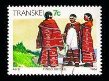 Noivas de Fingo, serie de Transkei, cerca de 1984 Imagem de Stock Royalty Free