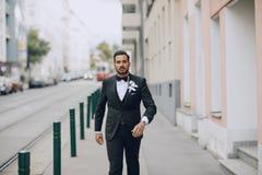 Noivo à moda Fotografia de Stock Royalty Free