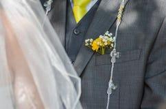 Noivo e noiva Imagens de Stock Royalty Free