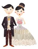 Noivo e noiva Fotografia de Stock Royalty Free