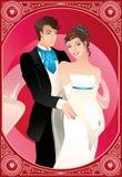 Noivo e noiva Foto de Stock Royalty Free