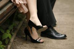 Noivo e a noiva Imagem de Stock Royalty Free