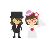 Noivo e noiva ilustração royalty free