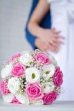 Noivo e noiva junto. Pares do casamento. imagens de stock royalty free