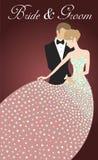 Noivo e noiva no vestido leve Imagens de Stock