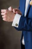 Noivo incomum dos botão de punho Imagens de Stock Royalty Free