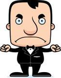 Noivo irritado Man dos desenhos animados Imagens de Stock Royalty Free