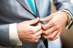 Noivo no casamento Imagens de Stock Royalty Free