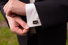 Noivo Wedding Attire Detail imagens de stock