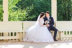 Noivos Celebrating Wedding imagem de stock royalty free