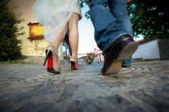 Noivos dos pés Imagens de Stock