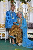 Noivos indonésios Fotografia de Stock Royalty Free
